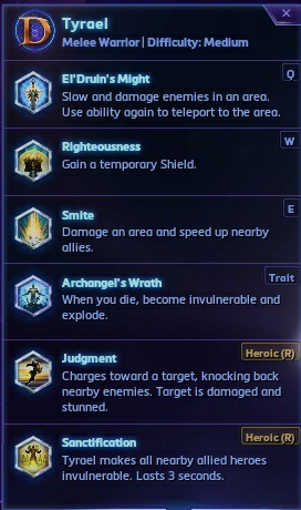 Tyrael's Abilities