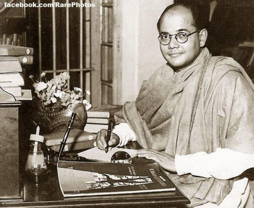 A rare photograph of Subhas Chandra Bose