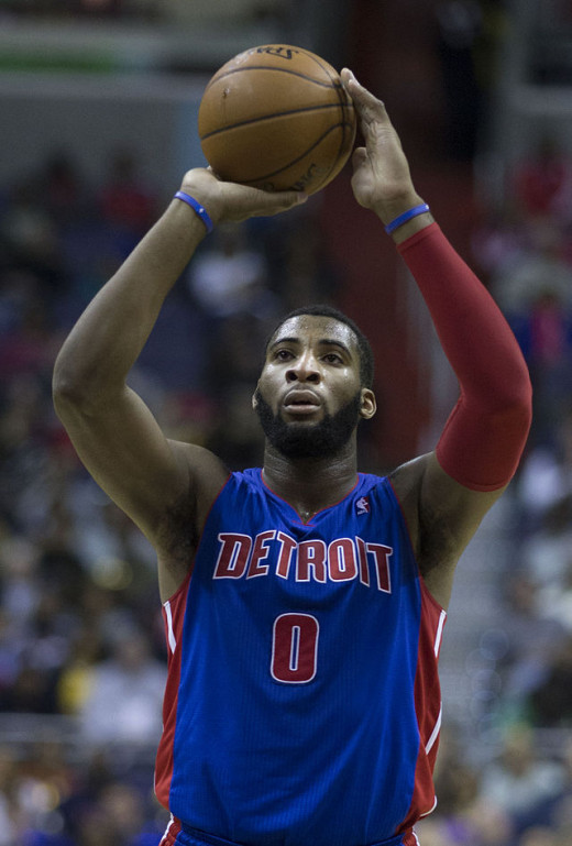 Andre Drummond shooting a free throw.  Oh boy...
