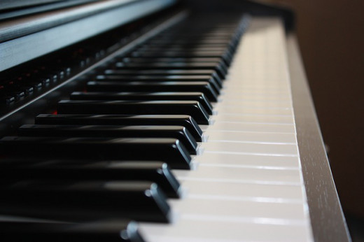 An instrument which many people play for the first time. The piano can be traditional or there are new electronic keyboards.