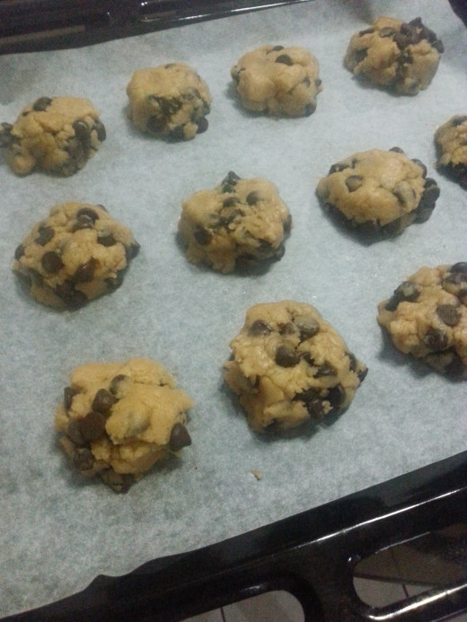 Place the cookie dough about 1-2 inches apart. The cookies would normally not expand too much.