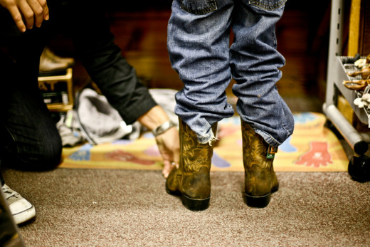 Kids in cowboy boots