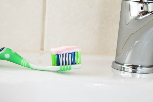 The toothbrush is an important weapon in removing plaque.