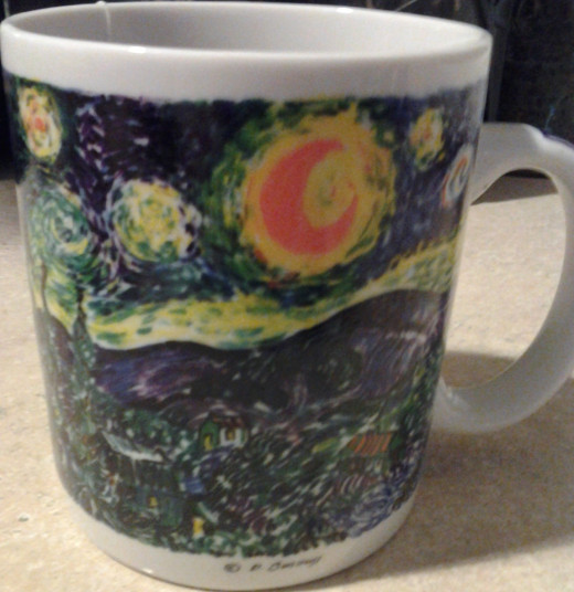 This is the mug that I sip my comfort drink from.