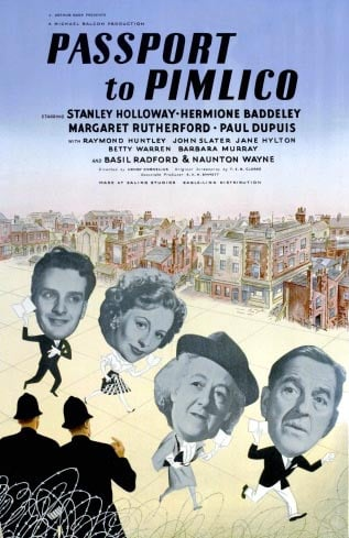 Poster for the movie 'Passport to Pimlico'
