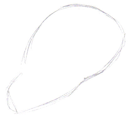 A simple shape is drawn for the skull head.