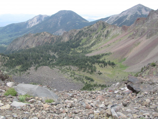 The Kachina Peaks Wilderness. Photo taken from the saddle at the junction to the Weatherford Trail.