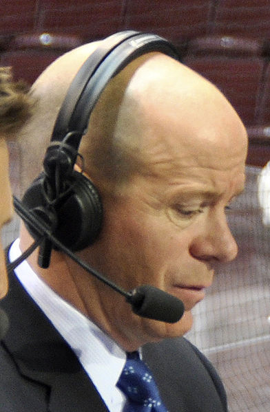 When he's not doing national broadcasts, Darren Pang is the color commentator for the St. Louis Blues.