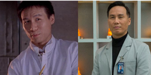 B. D. Wong playing the character Dr. Henry Wu in both Jurassic Park and Jurassic World