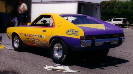 "AMC AMX ""Adkins"" drag-racing car."