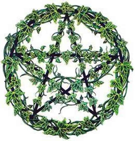 Wiccan Pentagram Wreath.