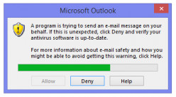 Outlook Is Trying To Send An Email On Your Behalf - How to Fix the Errors