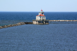 The Historic Oswego Harbor Lighthouse, 300,000 Visitors To The Yearly Spectacular Harbor Festival