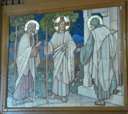 Painting in the church in Lakes Entrance