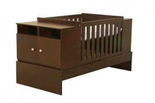 Ensure that when you get a cot for baby that it has draw space as clothing and nappies need to be stored somewhere
