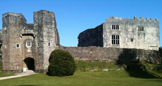 The beautiful Berry Pomeroy Castle - full of history and ghosts.