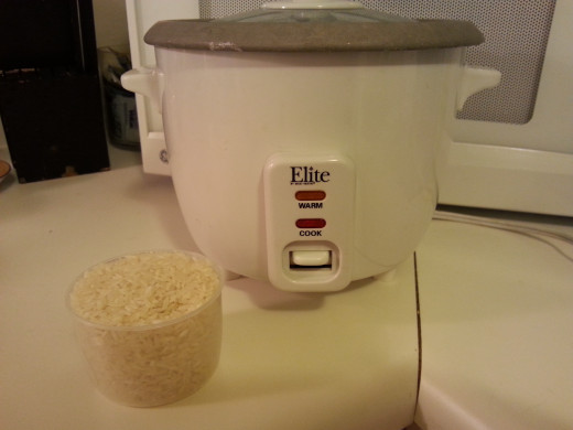 1. Make rice. I have been using a rice cooker for the last 5 years, but you are welcome to make rice in a saucepan with tight fitting lid. I did it that way for decades. I use one cup of uncooked rice to two cups of water.