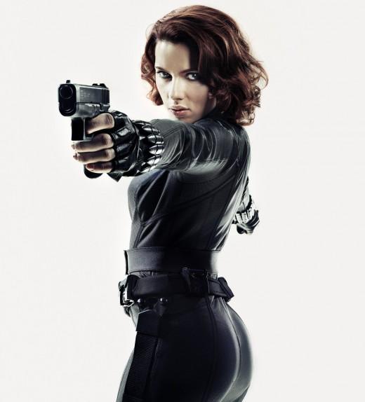 Black Widow portrayed by Scarlett Johansson