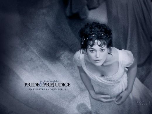 Elizabeth Bennet portrayed by Keira Knightley