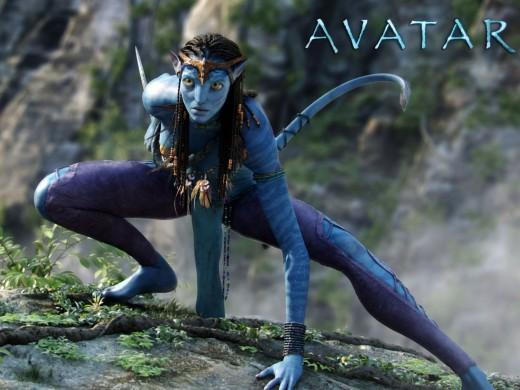 Neytiri portrayed by Zoe Saldana