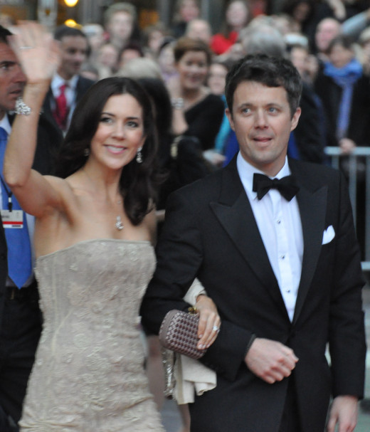 Princess Mary of Denmark attends a wedding with husband Prince Frederick