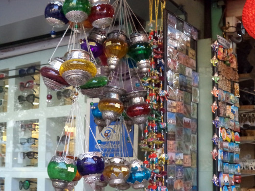 Gorgeous Glass Lamps At Janpath, New Delhi