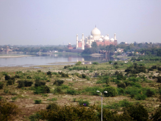 Shah Jahan's View Of The Taj Mahal From Agra Fort