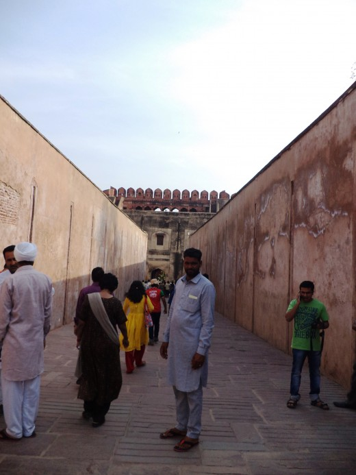 Entering The Red Fort, Agra