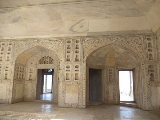 Princess Jahanara's Quarters, Red Fort, Agra