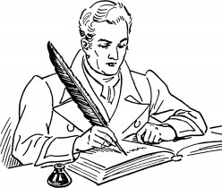 When he authored..