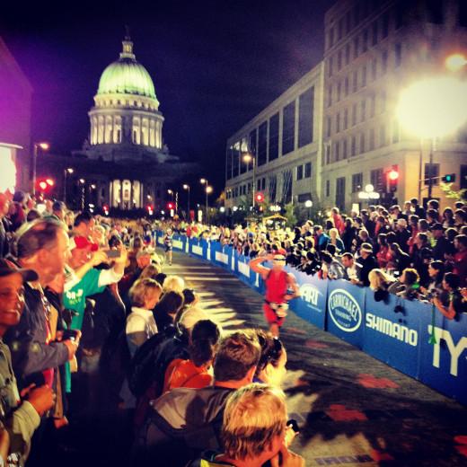 Finish Line: Ironman Wisconsin, Madison, WI