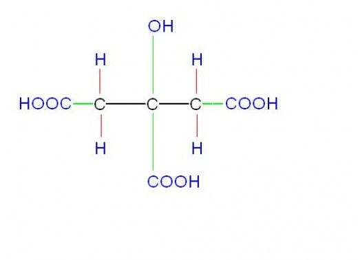 Citric acid can react with sodium hydrogen carbonate(baking soda) to yield soda water.