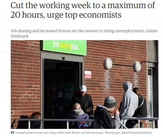 A thinktank, the New Economics Foundation (NEF), which has organised the event with the Centre for Analysis of Social Exclusion at the London School of Economics, argues that if everyone worked fewer hours – say, 20 or so a week – there would be more