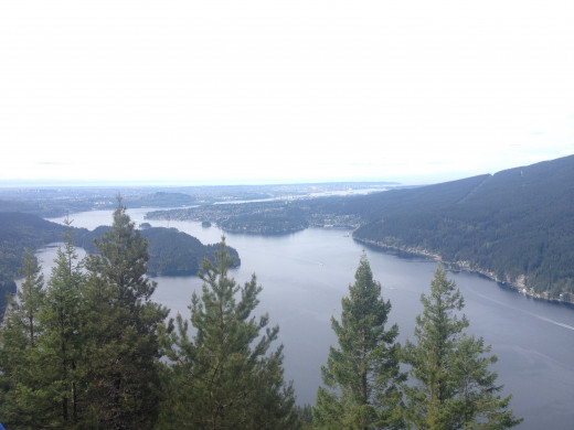 One of the views on the Santero Dias Vistas in Port Moody, BC.