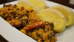 How to make a spicy Egusi soup and Eba