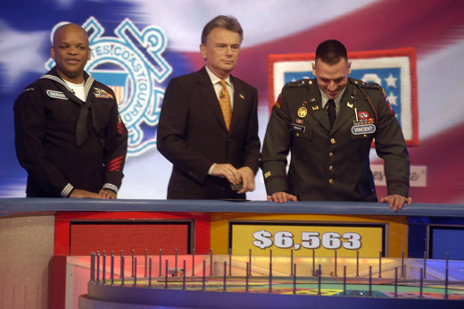 "Pat Sajak and contestants during ""Military Week"", Wheel of Fortune"", 2006"