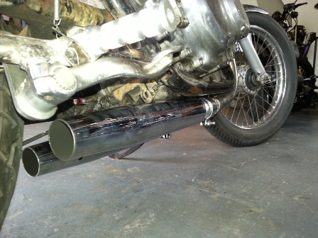 Short straight through pipes for a loud noise