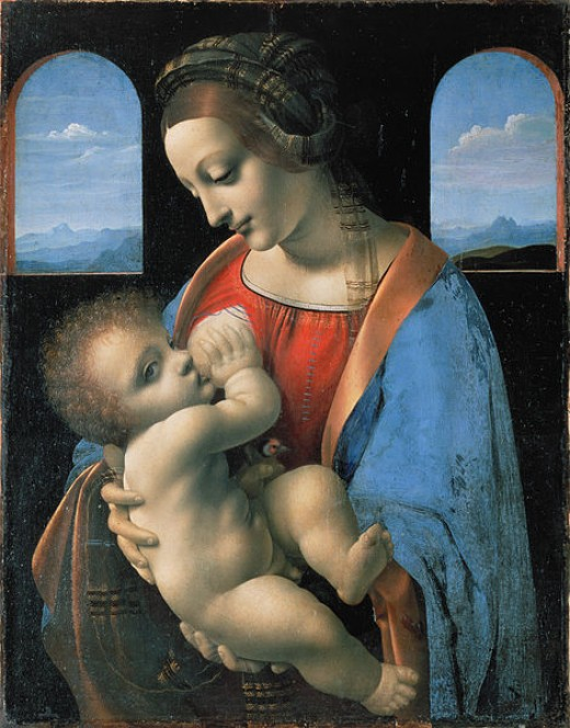 Leonardo or Boltraffio Madonna Litta 1490 Hermitage Saint Petersburg