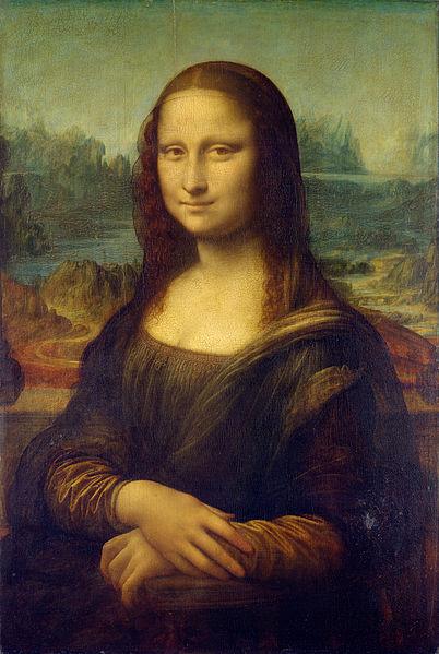 Leonardo da Vinci, Portrait of Mona Lisa (1503-1504 or 1510-1515) Paris Louvre