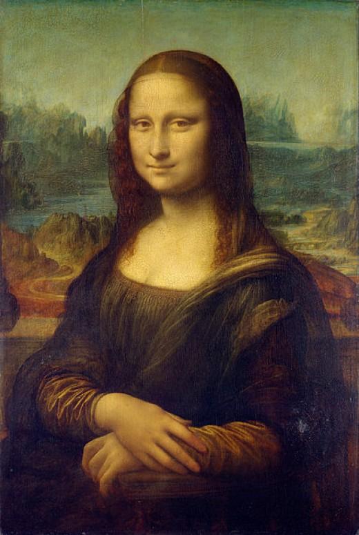 Leonardo da Vinci, Portrait of Mona Lisa (1503-1504 or 1510-1515) Paris Louvre