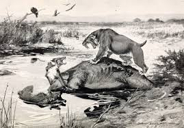 Primitive dog hunting megafauna