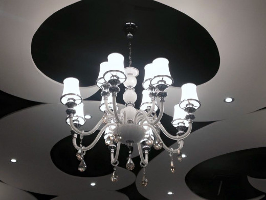 I was frustrated, so I cleaned the chandelier!