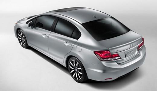 2015 Honda Civic top view