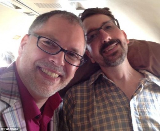 Jim Obergefell (left) and John Arthur (right) on the Day of their Wedding.