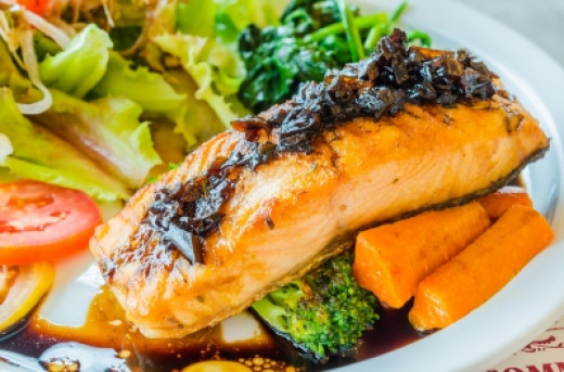 Salmon in Top 8 Cholesterol Lowering foods