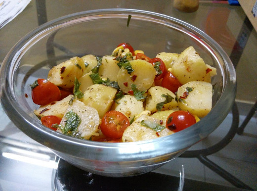 Tomatoes, vegetables, herbs and spices can all be used to make a potato salad better and more enjoyable. The Perfect Potato Salad