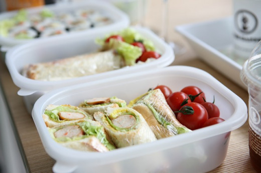 Sandwiches and healthy snacks are great to keep you full until lunch