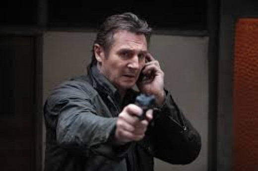 """Liam neeson as Brian Mills, former CIA operative with """"skills"""" (and not afraid to use them!)."""