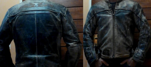 Nexo leather jacket, Elbow, back and shoulder protection. The jacket comes with a faded old look to it.