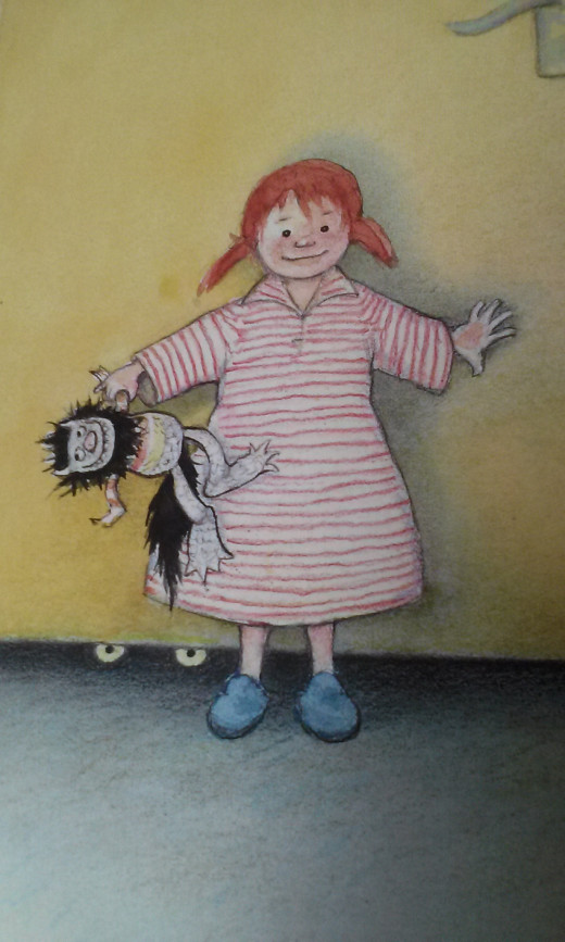 "This is a picture of Sophie from ""There's A Crocodile Under My Bed!"""
